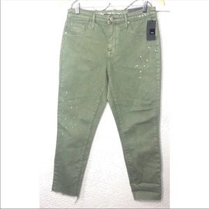 Mossimo NEW distressed high rise denim jegging 8